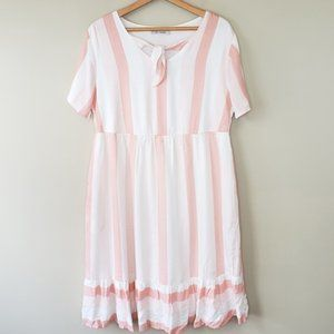NWOT Ces Femme | Pink Striped Midi Dress